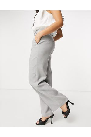 Selected Femme wide-legged pants in grey