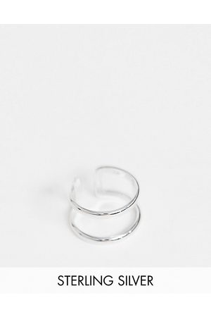 ASOS Sterling silver ring with double band design in silver