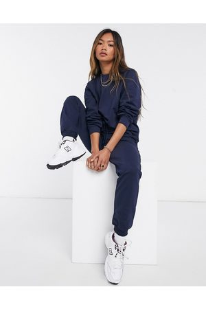 ASOS Tracksuit ultimate sweat / jogger with tie in organic cotton in navy