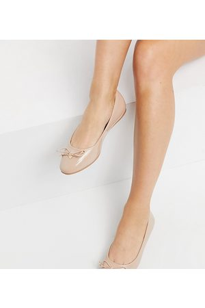 ASOS Wide Fit Lallie ballet flats in beige