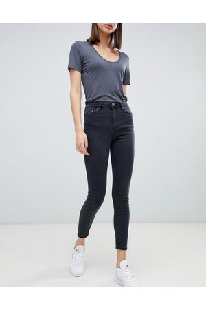 ASOS High rise ridley 'skinny' jeans in washed black