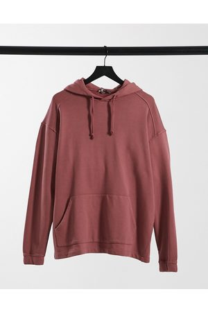 ASOS Co-ord oversized hoodie in washed berry-Purple