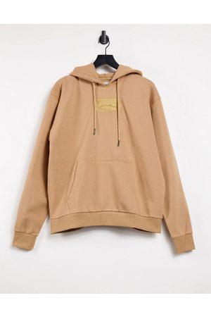 Karl Kani Signature box logo hoodie in beige