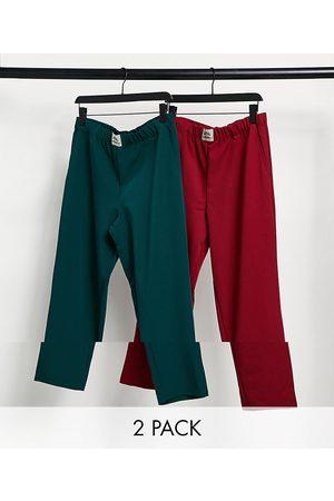 ASOS 2 pack lounge pyjama bottoms-Multi