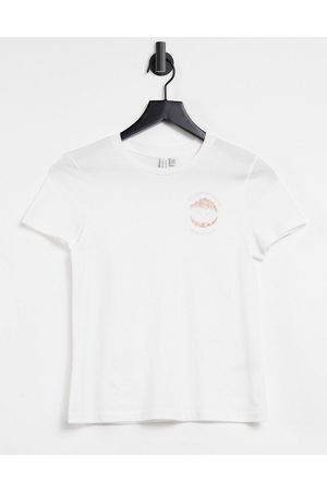 & OTHER STORIES & organic cotton slogan t-shirt in off white