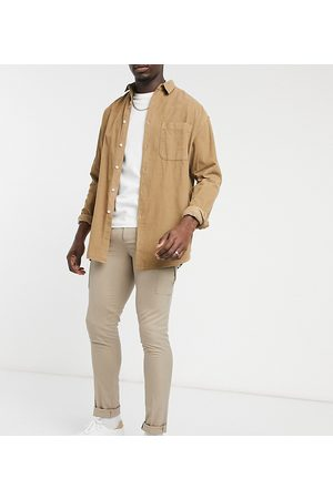 ASOS Tall skinny smart pants with cargo pocket in stone