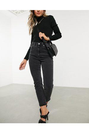 ASOS High rise farleigh 'slim' mum jeans in washed black