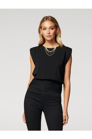 Forever New Astrid Clinched Waist Shoulder Pad Tank