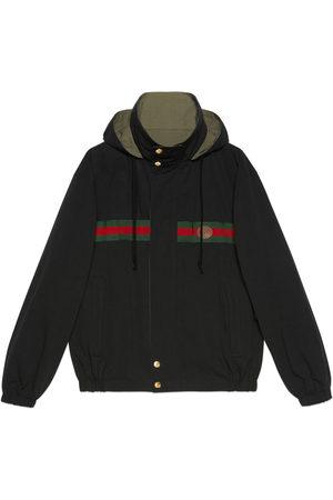 Gucci Men Outdoor Jackets - Reversible cotton nylon jacket