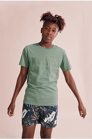 COUNTRY ROAD Teen Verified Australian Cotton Heritage T-Shirt - Sage