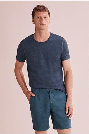 COUNTRY ROAD Men Short Sleeve - Pima Crew T-Shirt - Navy Marle