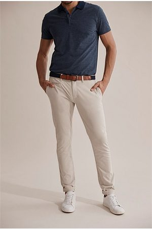 COUNTRY ROAD Slim Stretch Chino - Pale Stone