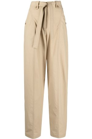 Kenzo Tied-waist cropped trousers