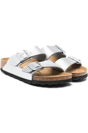 Birkenstock Metallic pool slides