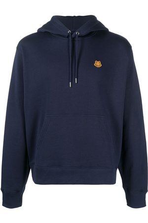 Kenzo Men Hoodies - Tiger patch cotton hoodie