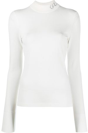 Karl Lagerfeld Logo mock neck sweater