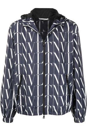 VALENTINO Logo-print zipped jacket