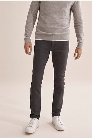 COUNTRY ROAD Slim Garment Dyed Jean - Charcoal