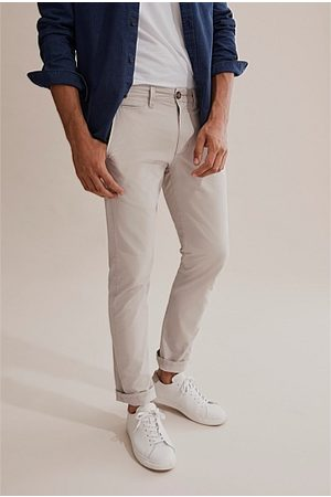 COUNTRY ROAD Standard Stretch Chino - Pale Stone