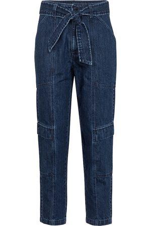 J Brand Athena cropped paperbag jeans