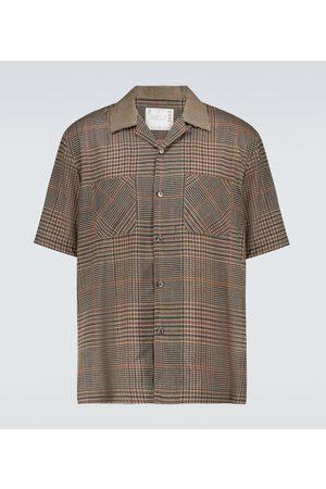 SACAI Glencheck Mix short-sleeved shirt