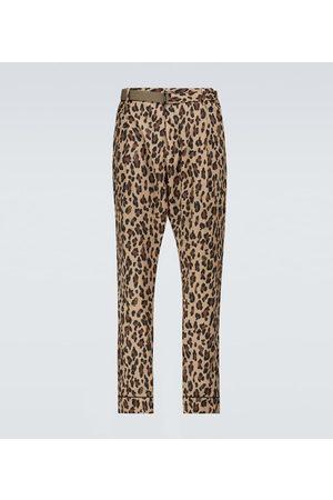 SACAI Archive printed Mix leopard pants