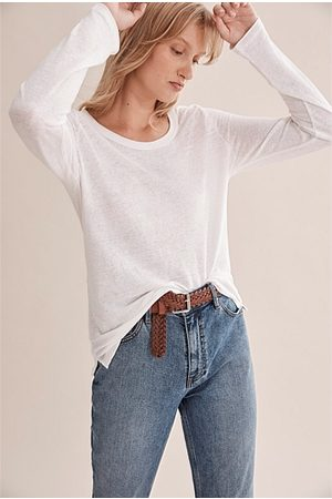 COUNTRY ROAD Long Sleeve Linen T-Shirt