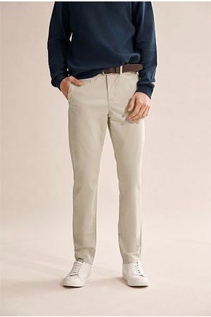 COUNTRY ROAD Men Chinos - Tapered Stretch Chino - Pale Stone