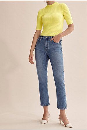 COUNTRY ROAD Australian Cotton High Rise Straight Jean - True Indigo