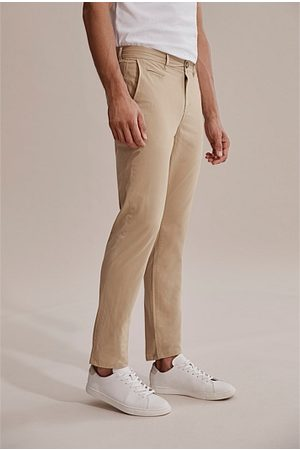 COUNTRY ROAD Tapered Stretch Chino - Stone