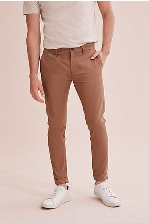 COUNTRY ROAD Skinny Stretch Chino - Rich Tan