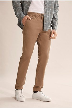 COUNTRY ROAD Tapered Stretch Chino - Rich Tan