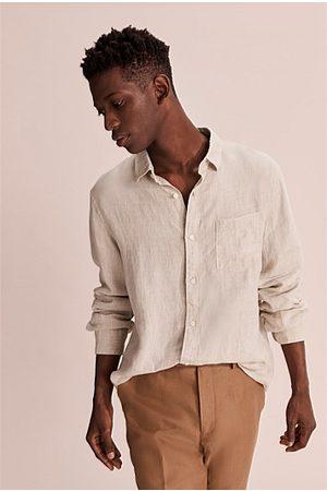 COUNTRY ROAD Long Sleeve Organically Grown Linen Shirt - Oatmeal