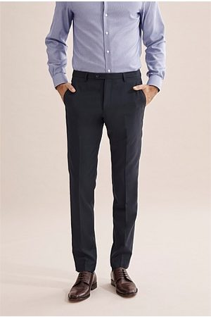 COUNTRY ROAD Slim Textured Pant - Navy