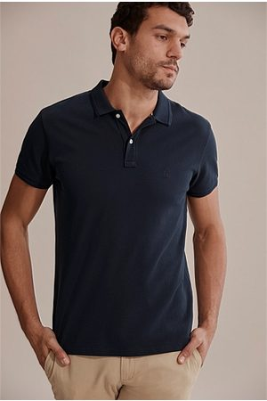 COUNTRY ROAD Australian Cotton Pique Polo - Navy
