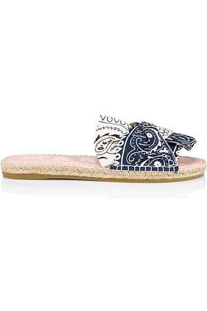 MANEBI Knotted Bandana Espadrille Sandals