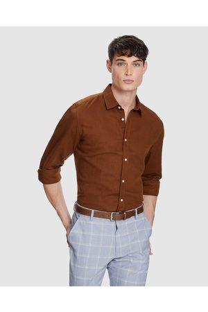Yd. New England Linen Shirt - Shirts & Polos (TOBACCO) New England Linen Shirt