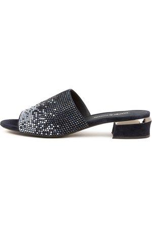 Django & Juliette Tamarin Dj Navy Sandals Womens Shoes Dress Heeled Sandals