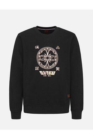 Evisu Men Sweatshirts - Kamon Foil-print and Scroll Daicock Appliqué Sweatshirt