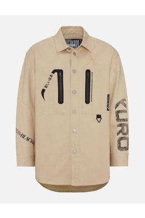 Evisu Heat Seal Zipper Denim Overshirt