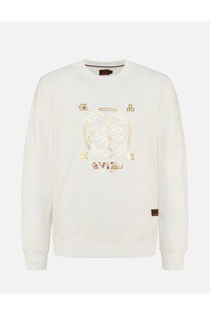 Evisu Kamon Foil-print and Scroll Daicock Appliqué Sweatshirt