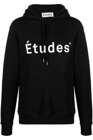 Etudes Klein logo-print organic cotton hoodie