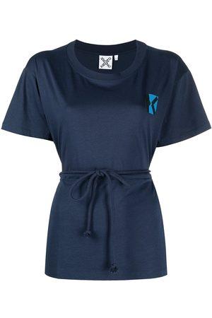 Kenzo Women Short Sleeve - Blocked K drawstring-waist T-shirt