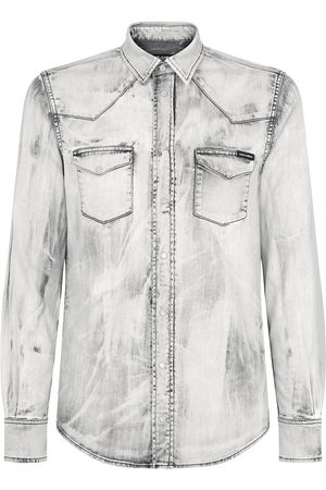 Dolce & Gabbana Men Denim - Bleach wash denim shirt