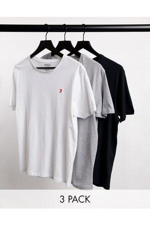 Farah 3-pack lounge T-shirts in multi-Grey