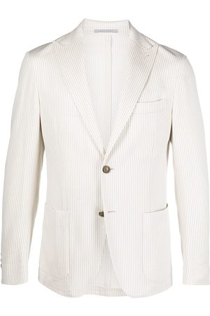 ELEVENTY Striped single-breasted blazer