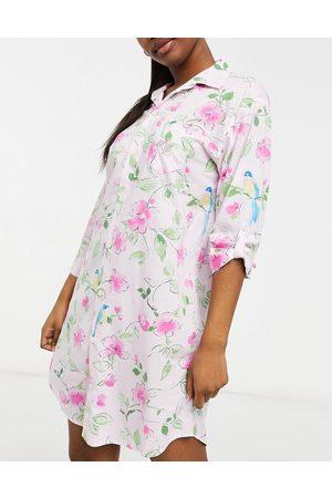 Lauren by Ralph Lauren Woven sleepshirt in pink floral