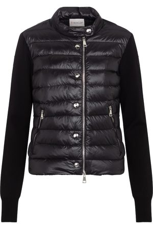 Moncler Quilted down and cotton cardigan