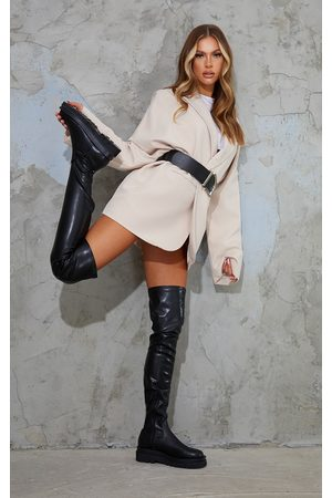PRETTYLITTLETHING Double Sole Over The Knee Boots