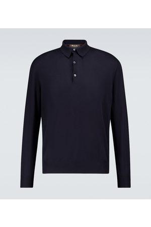 Loro Piana Cotton long-sleeved polo sweater